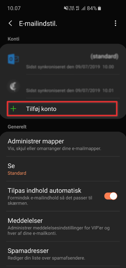 Android mail guide
