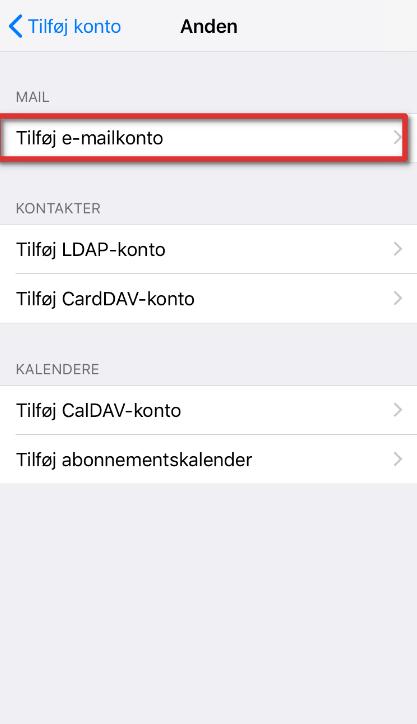Indstillinger iphone